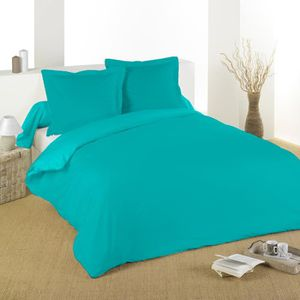 Couette turquoise achat vente couette turquoise pas for Housse de couette turquoise