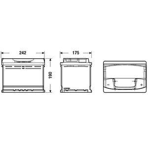 BATTERIE VÉHICULE FULMEN Batterie auto XTREME FA640 (+ droite) 12V 6