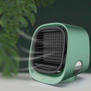 Mini Refroidisseur dAir Personnel Humidificateur Purificateur Ventilateur de Climatisation Mobile avec 3 Vitesses pour Maison Bureau Dortoir Voyage Climatiseur Portable