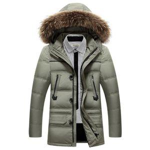 DOUDOUNE Manteau a capuche Homme hiver a la mode en baggy d