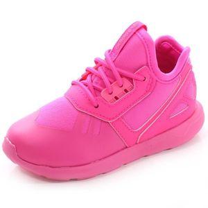 BASKET MULTISPORT Chaussures Tubular Runner EL Rose Fille Adidas