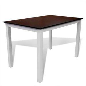 TABLE À MANGER SEULE Table à manger marron/blanc 110 x 70 x 75 cm en Bo