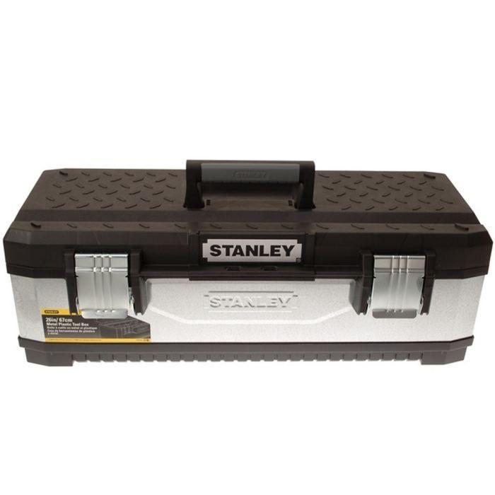 STANLEY Boite outils bimatière vide galvanisée 26-