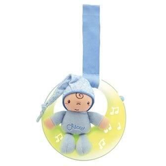 MOBILE CHICCO Veilleuse Musicale Petite Lune Bleu