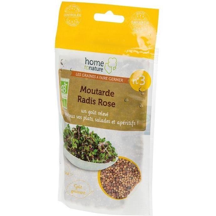 Mélange de graines à germer bio N 3 moutarde - radis rose