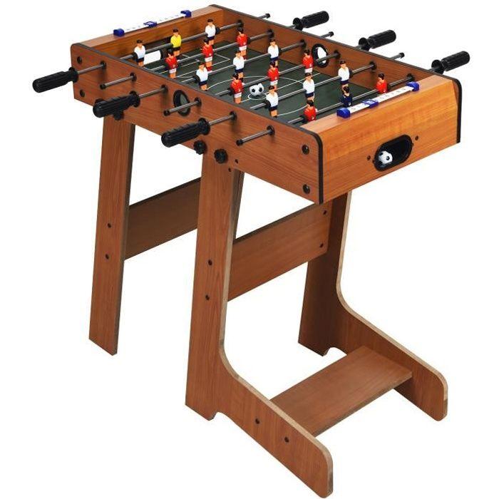 COSTWAY Baby-Foot , Table de Jeu de Football Pliable Table Soccer pour Adultes et Enfants à Partir de 8 Ans, 70 x 36 x 59 CM