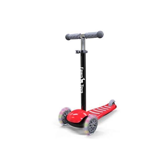 Voiture Electrique ZRPIH Roues clignotantes de trottinette junior à 3 roues / Pencher pour tourner / Intérieur / Extérieur 26 ans