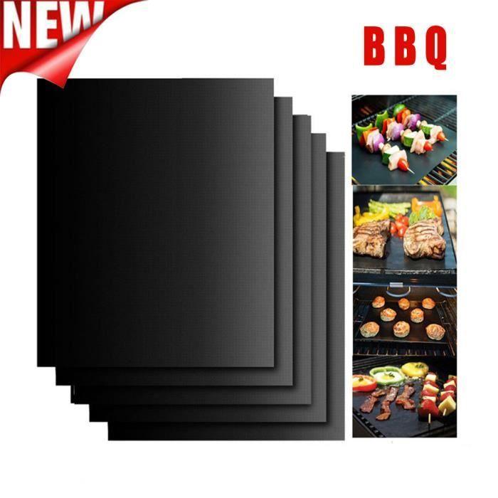 Tapis magique de gril de BBQ d'antiadhésive de 5PCS parfait pour la cuisson sur le gaz résistant à la chaleur @NWBG1403