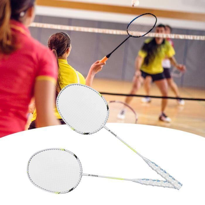 Raquette de badminton en alliage d'aluminium 1 paire haute élasticité(Vert émeraude)