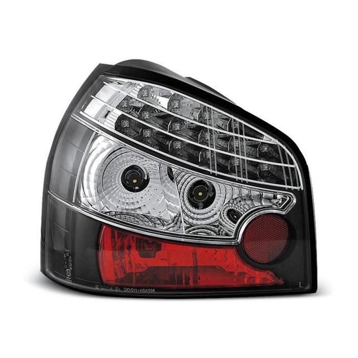 Paire de feux arrière Audi A3 8L 96-00 LED Noir