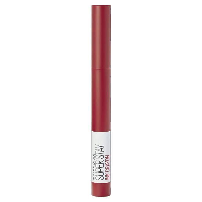 Maybelline New York Rouge à lèvres mat longue durée SuperStay Ink Crayon Ton 45 Hustle in Heels Rouge