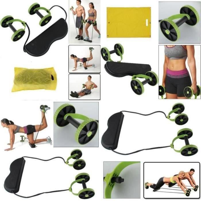 Roue abdominale Rallye multifonction traction corde roue abdominale, Abdominale Minceur Formateur Exerciseur