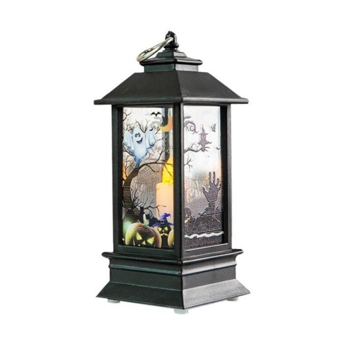 AR2153 1 pièces décoratif LED phare Halloween bougie avec LED bougies chauffe plat pour Halloween décoration fête 0730 -D