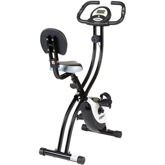 Care Fitness - Vélo d'Appartement Pliable SV-314 STRIALE - Freinage Magnétique - 8 Résistances Manuelles - Masse d'Inertie 4kg - Car