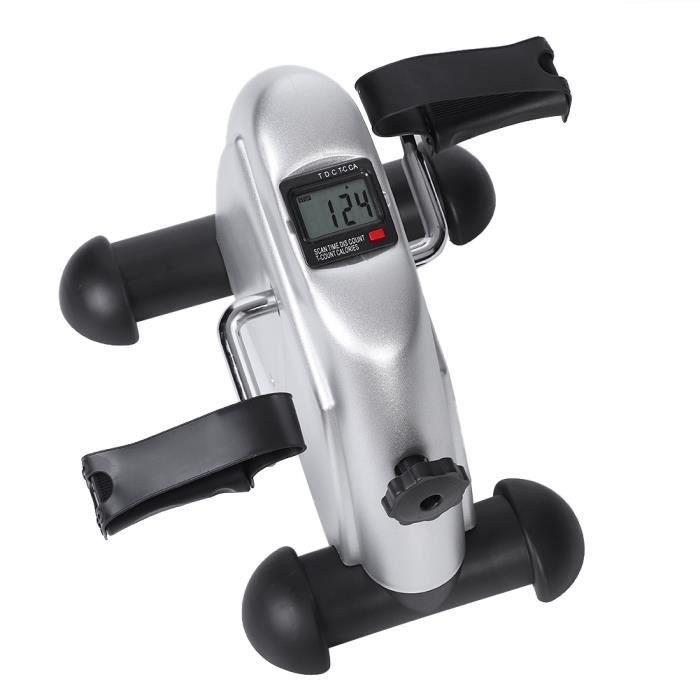XIXI Mini vélo d'appartement pliable Pédale Entraîner des Bras et Jambes avec Écran LCD