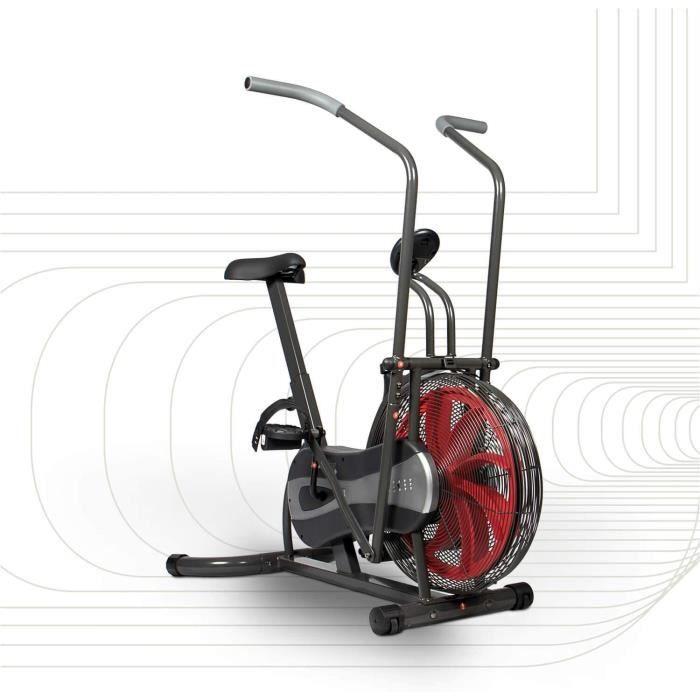 SportPlus - Vélo d'appartement - Fan bike - Résistance réglable en continu (par système éolien) - ordinateur de contrôle - Entr A67