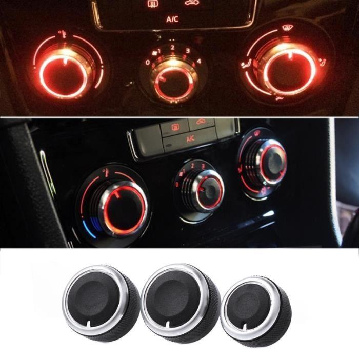 Phares et optiques,Panneau de commande de climatisation VW Passat B6 3 pièces, style de voiture, bouton de commande pour VW Passat