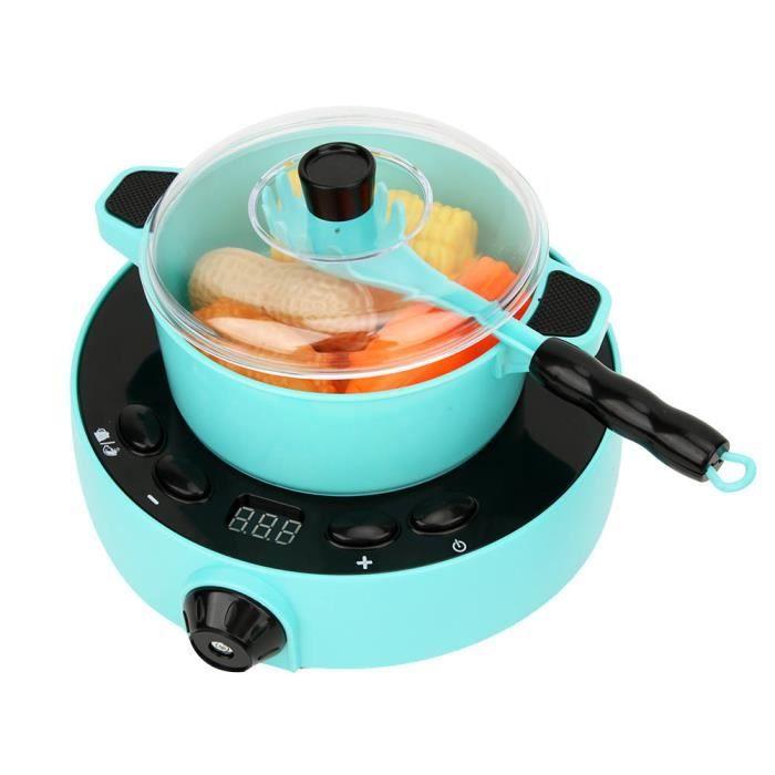Qiilu ensemble de jouets d'appareils de cuisine Simulation électrique cuisinière à induction jouet mini appareils ménagers