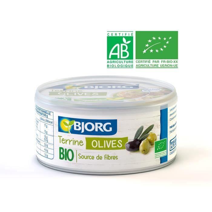 BJORG Terrine Végétale Olives Bio 125g