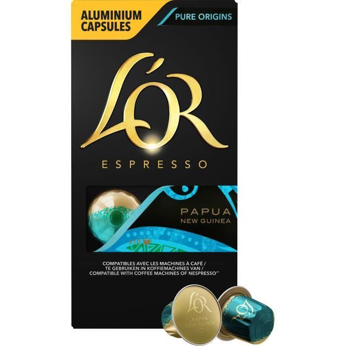Café capsules L'Or Espresso Papouasie x10, en aluminium compatibles Nespresso