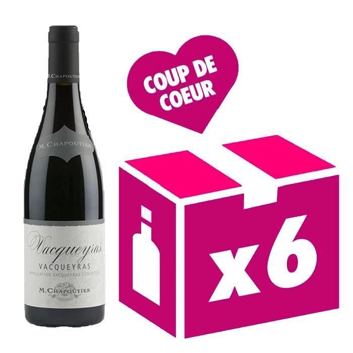 Vacqueyras vin rouge 6x75cl Chapoutier