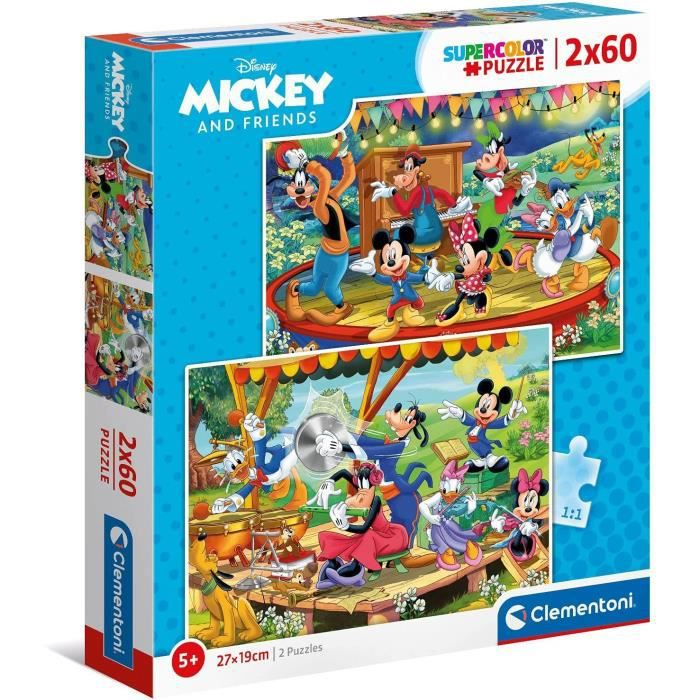 CLEMENTONI - 21620 - 2x60 pièces - Mickey and friends