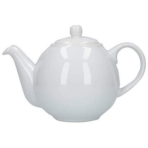 London Pottery 4 Cup Globe Teapot White 32110
