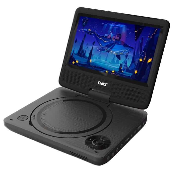 D-JIX PVS 706-20 Lecteur DVD Portable 7- rotatif