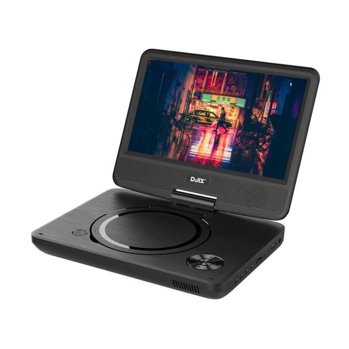 D-JIX PVS906-20 Lecteur DVD portable 9- rotatif - Noir