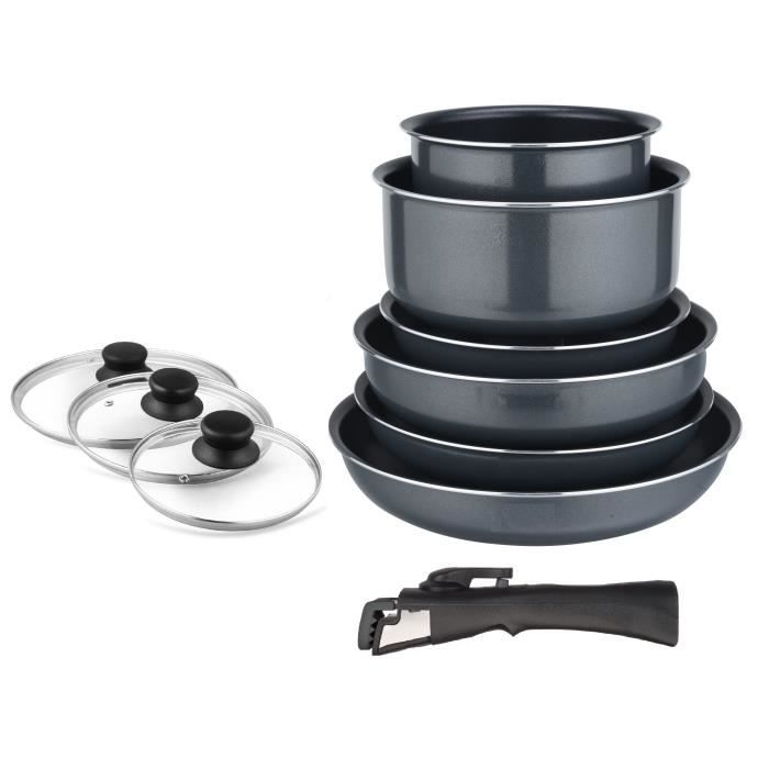 ART&CUISINE FG101 Batterie de cuisine - 10 pcs - Tous feux dont induction