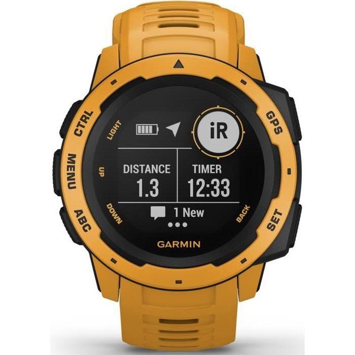 Garmin Instinct®- Montre GPS robuste - Jaune