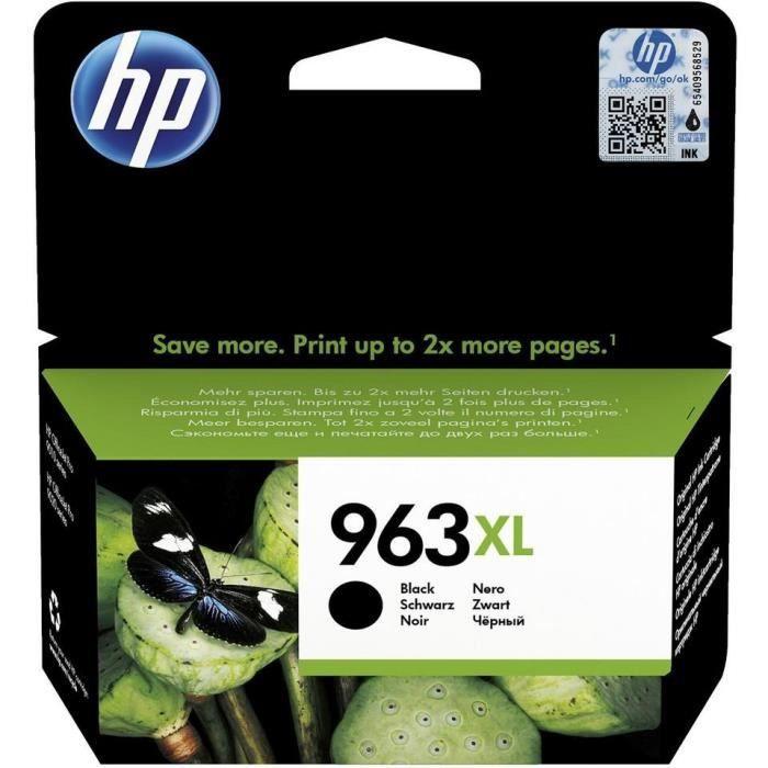 HP 963XL Cartouche d'encre noire authentique, grande capacité (3JA30AE) pour imprimantes HP OfficeJet Pro 9010 / 9020