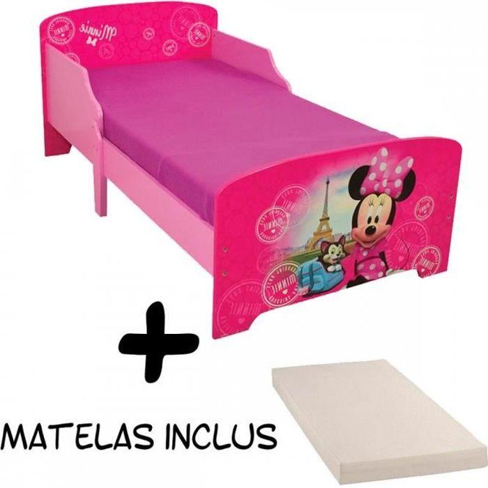 Lit enfant Minnie Mouse Disney Paris + Matelas