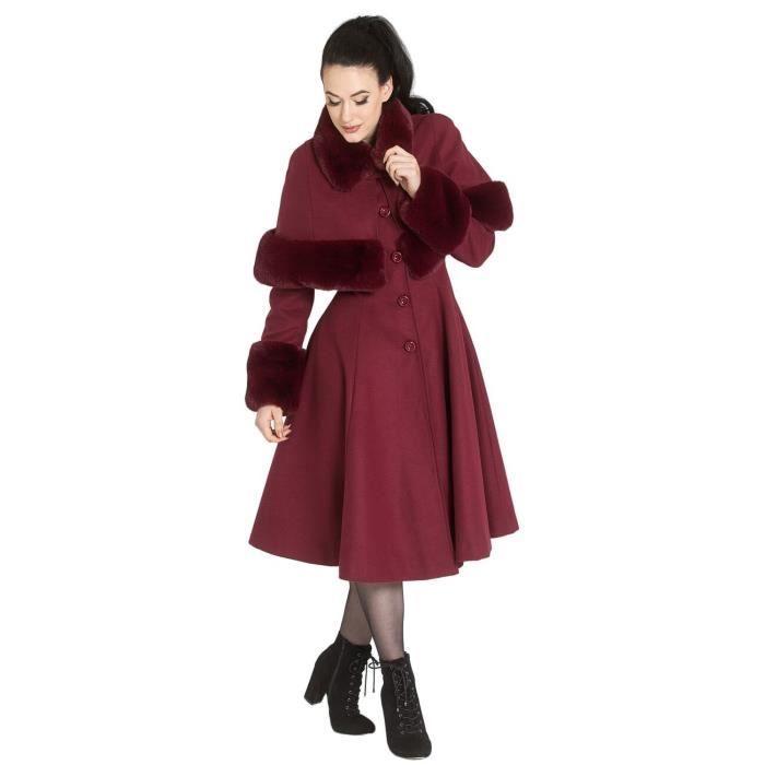 Hell Bunny Manteau Capulet Femme Manteaux rouge