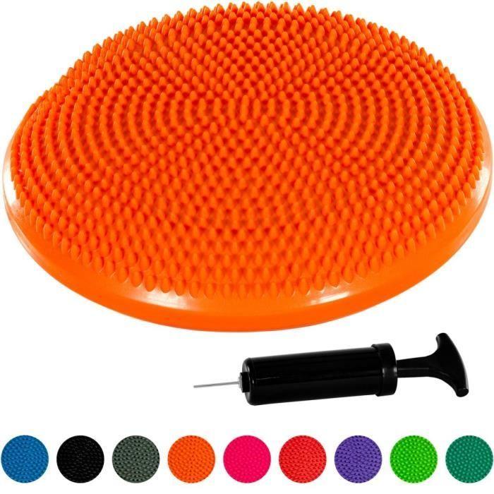 MOVIT Coussin d'équilibre et d'assise gonflable 33 cm, Orange