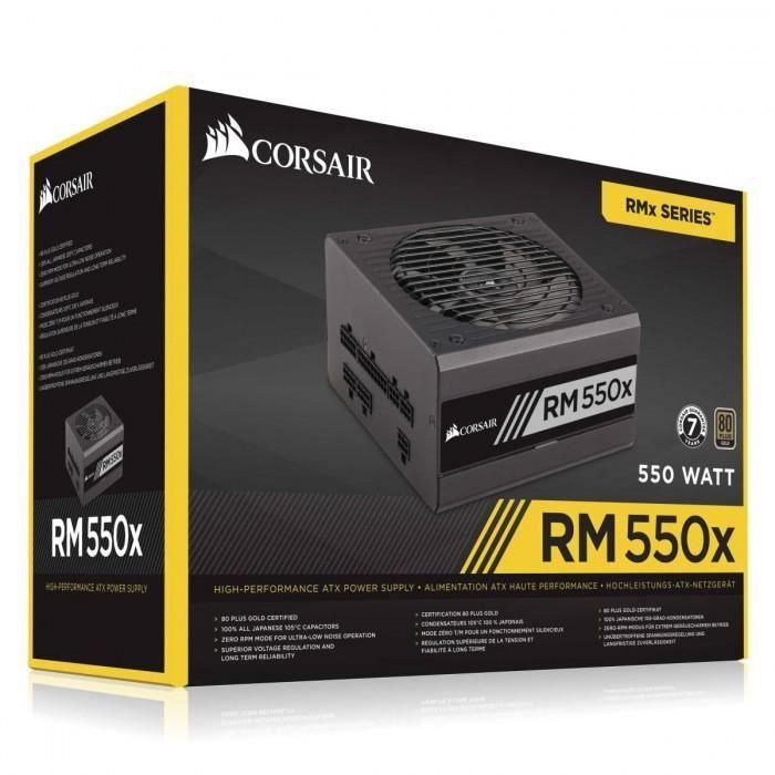Corsair Rm550x V2 80Plus Gold Alimentation modulaire 550W Atx 12V 2.4 / Eps 2.92 80Plus Gold (Garantie 10 ans par Co