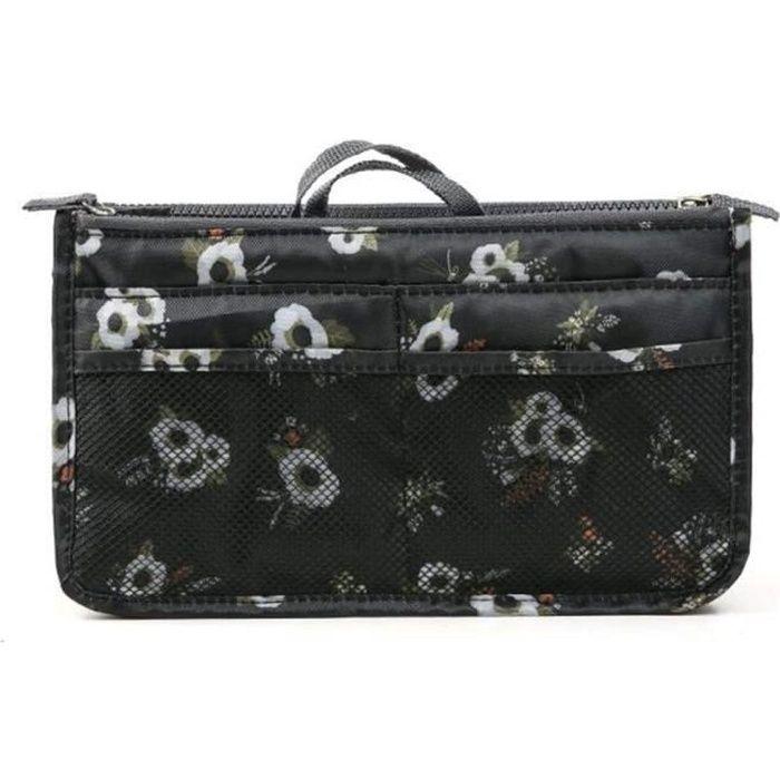 Organiseur de sac à main, Pochette Sac de Rangement intérieur pour Sac à Main ( Fleurs )