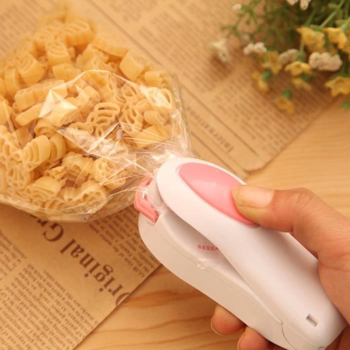 Soudé-Sac Plastique, Machine Mini d'étanchéité pour sceller Sac/Sachet Plastique Cuisine, scelleuse/Soudeur Thermique
