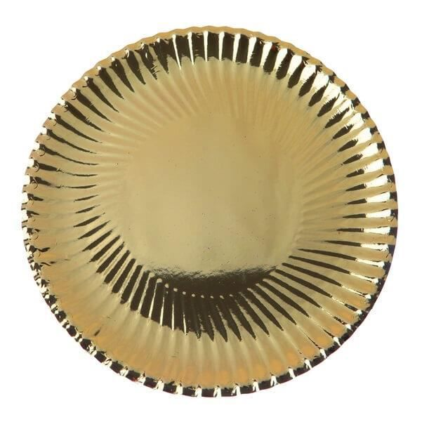 Assiette élégante or métallique 23cm (x10) R/4101 Matière carton