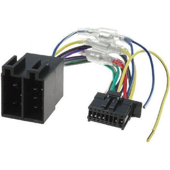 Cable ISO pour autoradios Pioneer MVH-AV190 MVH-AV290BT AVH-190DVD AVH-290BT