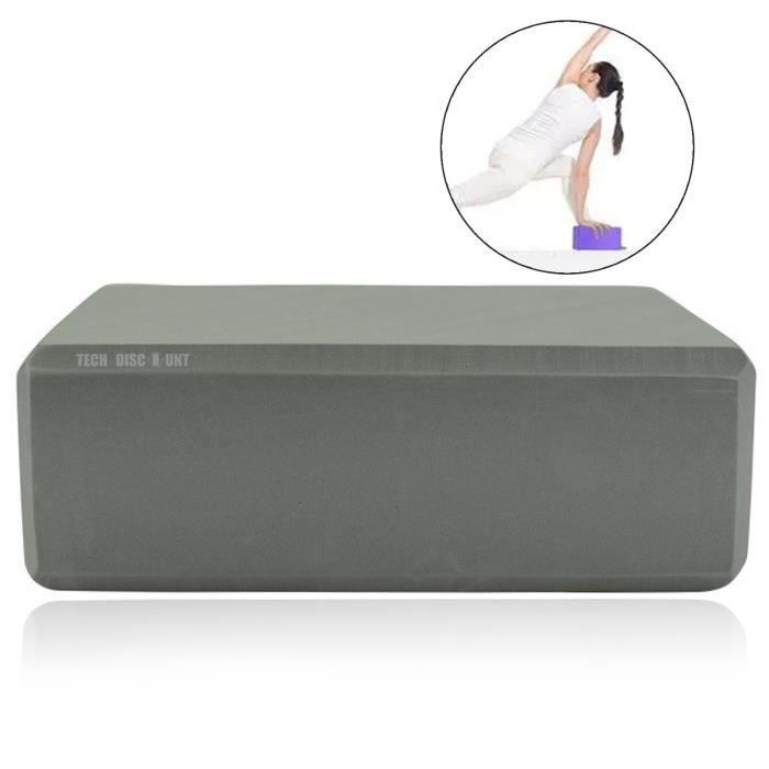 TD® 2 PCS Yoga Accessoires Yoga Bloc Yoga Rectangulaire Bloster Oreiller Coussin Anti-dérapant Haute Densité EVA Mousse Exercice Blo