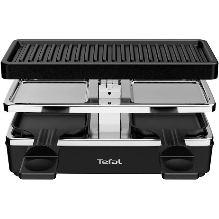 TEFAL Raclette Grill RE230812 Noir, Argent