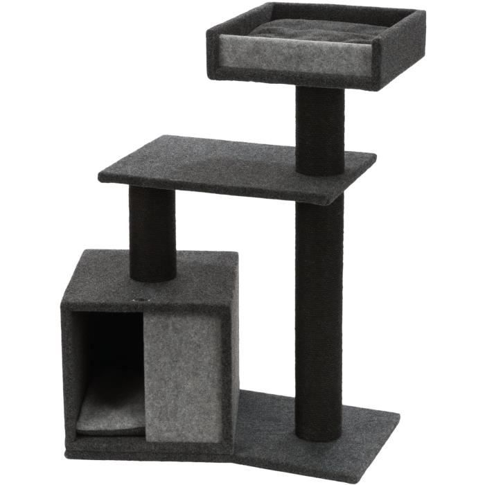 TRIXIE Arbre à chat José, feutre - 100 cm - Gris foncé et gris clair