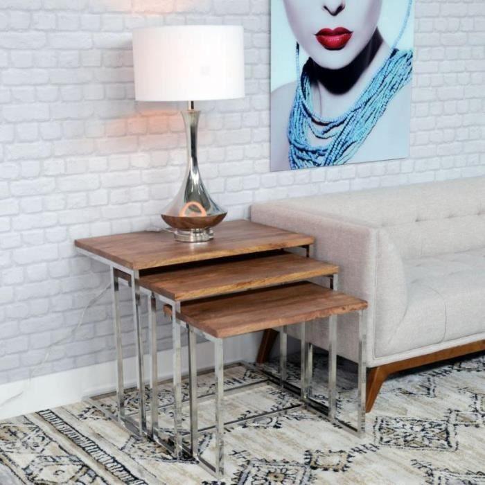 TABLE BASSE DESIGN BOIS ET METAL