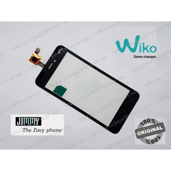 Vitre Tactile Wiko Jimmy Noir GARANTIE 100% Original WIKO France