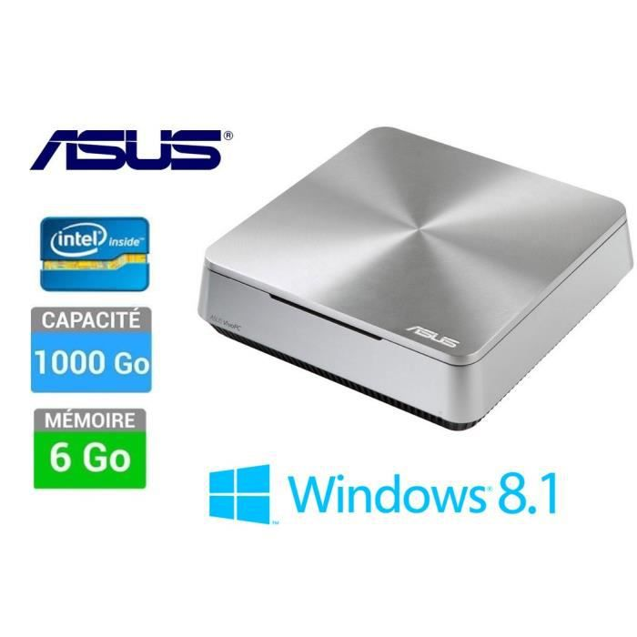 Asus pc de bureau windows 8 1 6 go 1 to vivopc achat for Bureau windows 8