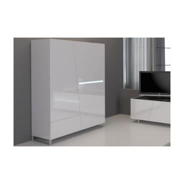 vaisselier led carlito blanc laqu achat vente vitrine argentier vaisselier led. Black Bedroom Furniture Sets. Home Design Ideas