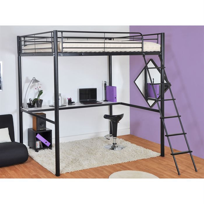 acheter lit mezzanine avec bureau. Black Bedroom Furniture Sets. Home Design Ideas