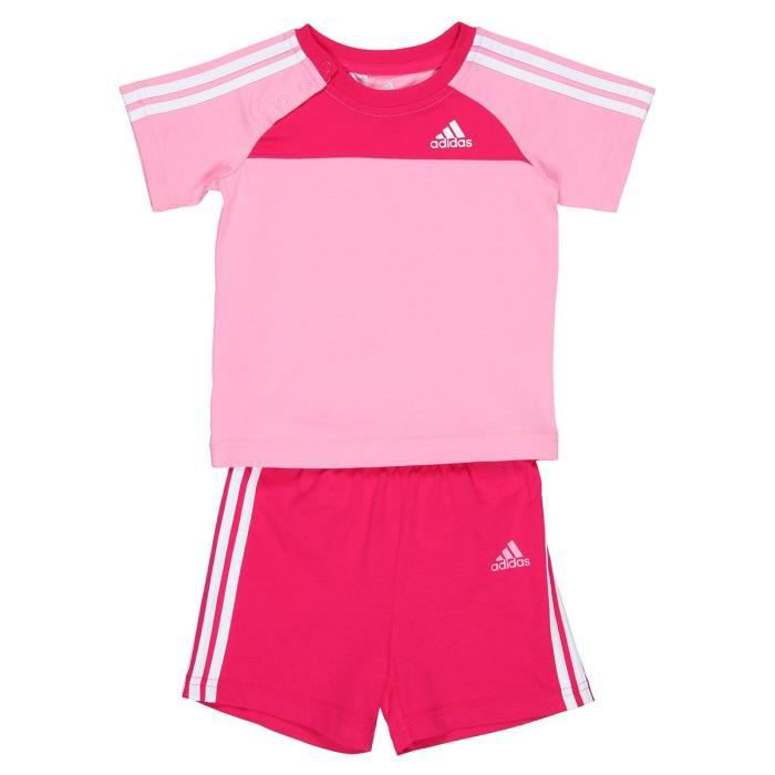 adidas ensemble b b fille rose achat vente surv tement de sport cadeaux de no l cdiscount. Black Bedroom Furniture Sets. Home Design Ideas