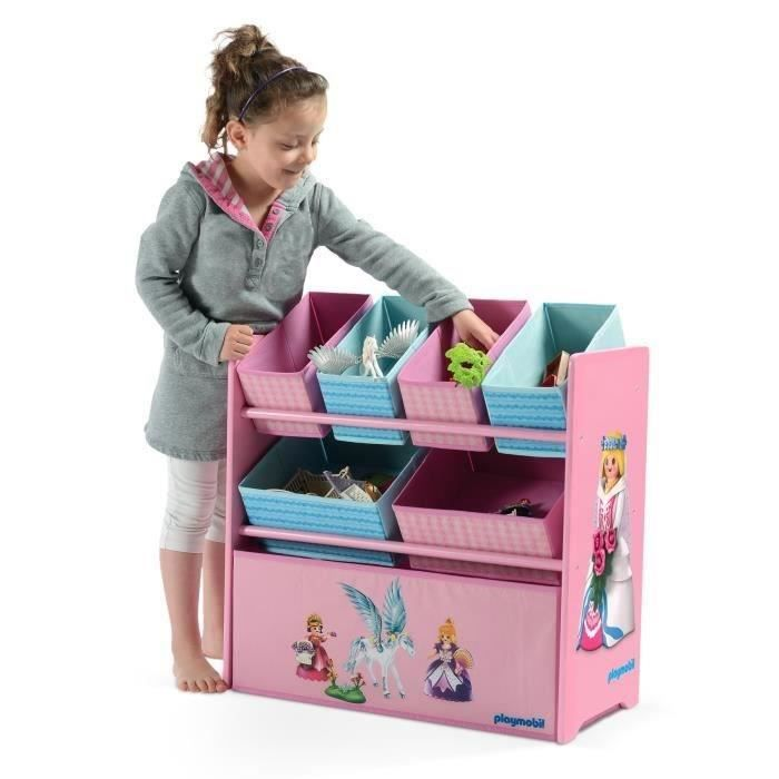 playmobil meuble de rangement enfant etag re de rangement casiers princesses achat vente. Black Bedroom Furniture Sets. Home Design Ideas